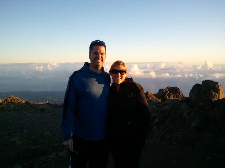 September 5, 2011 Haleakala Sunrise, Jones New York Jacket, Gap Jeans