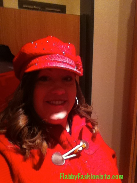 Lane Bryant Red coat with Red Hat