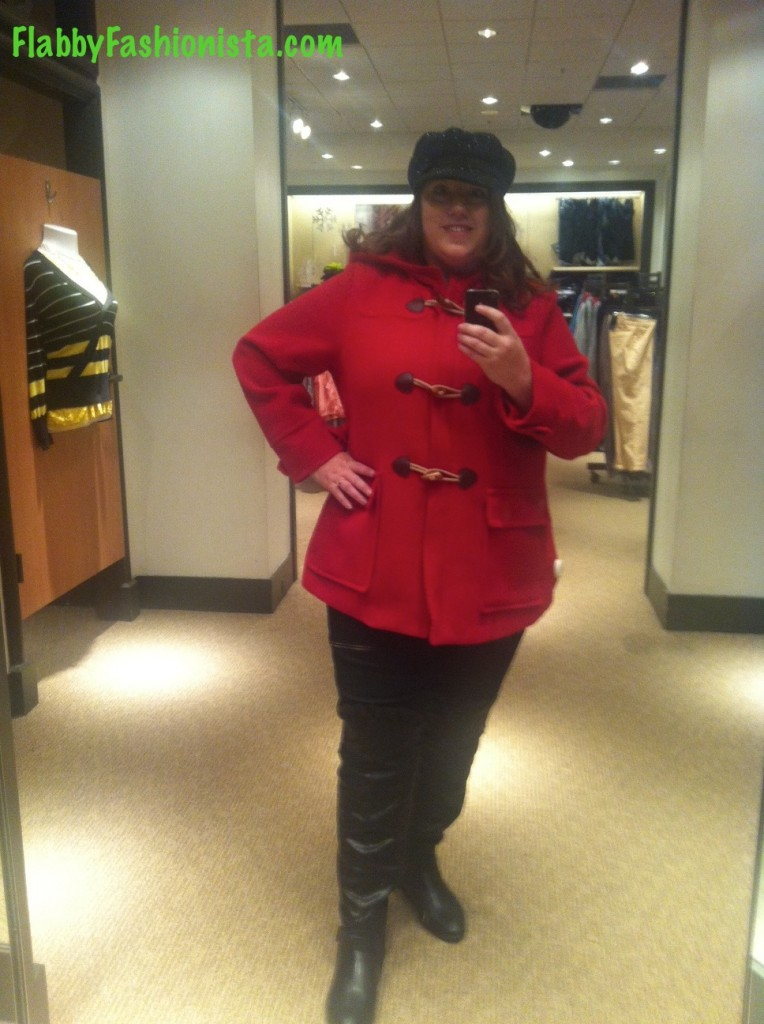 Plus Size Red Coat