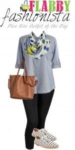 Plus Size Outfit of the Day – Chambray and Black