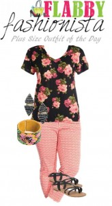 Plus Size Outfit of the Day – Pink Florals
