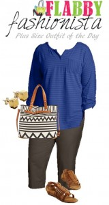 Plus Size Outfit of the Day – Blue Black and Brown