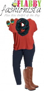 Plus Size Outfit of the Day – Fall Boots and Scarf