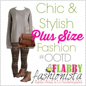 Plus Size Outfit of the Day – Chunky Sweater