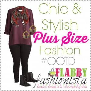 Plus Size Outfit of the Day – Fall Plum