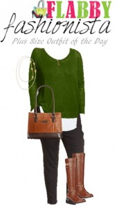 Plus Size Outfit of the Day – Kelly Green Sweater