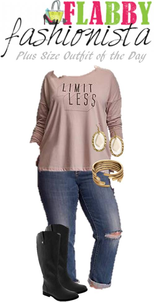 Plus Size Outfit of the Day – Tee and Jeans for Fall