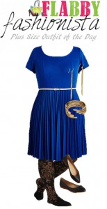 Plus Size Outfit of the Day – Sapphire Dress