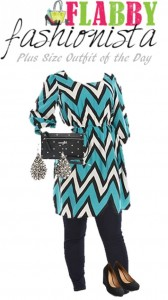 Plus Size Outfit of the Day – Chevron Dress