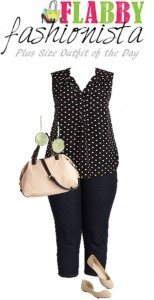 Plus Size Outfit of the Day: Pretty in Polka Dots