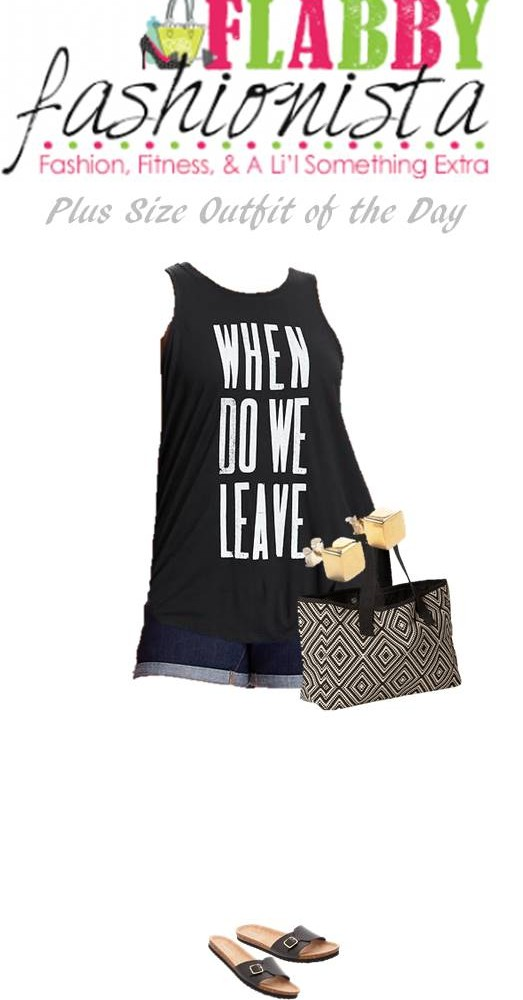 Plus Size Outfit of the Day – Graphic Tank and Shorts