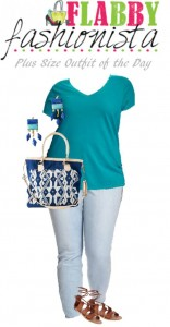Plus Size Outfit of the Day – Blue and Teal