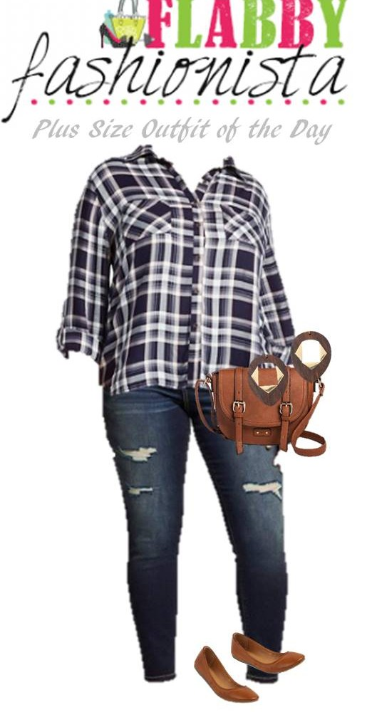 Plus Size Outfit of the Day – Plaid and Browns