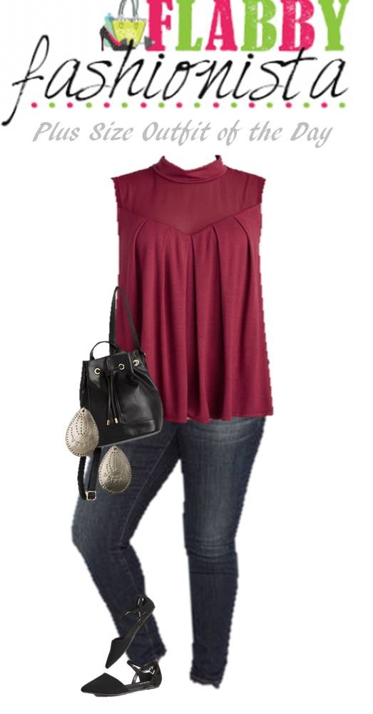 Plus Size Outfit of the Day – Purple Tank