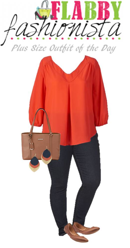 This coral blouse and these gorgeous Noonday Earrings are such a great look!