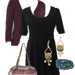 plus-size-black-dress-from-lularoe-with-cardigan-and-fun-accessories