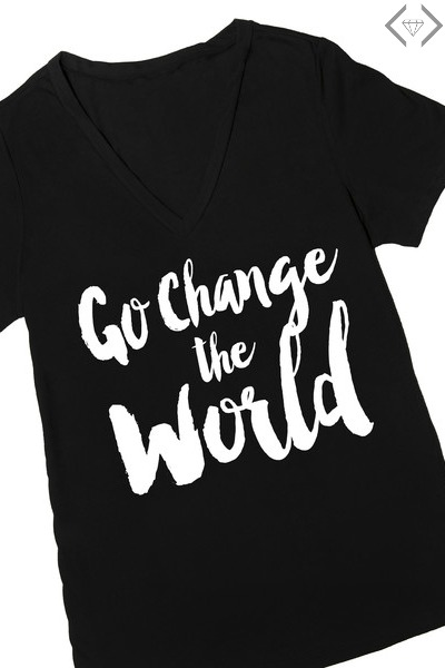 go-change-the-world-graphic-t