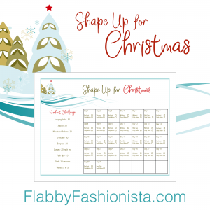 Christmas Shape Up 30 Day Workout Challenge