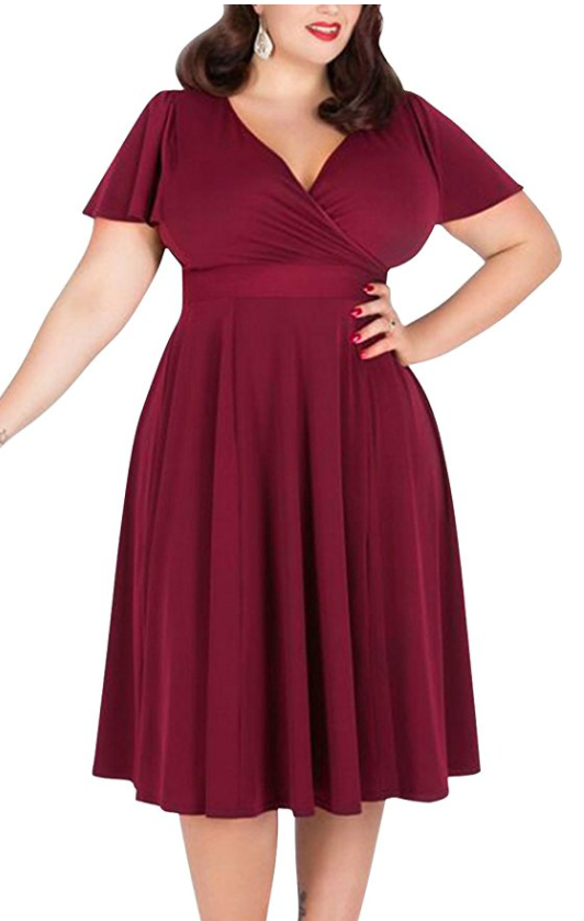 Nemidor Women's Stretch Plus Size Bridesmaid Dress