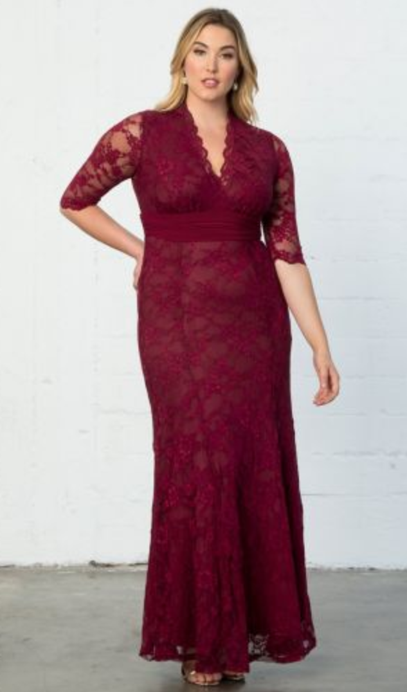 Screen Siren Plus Size Lace Gown