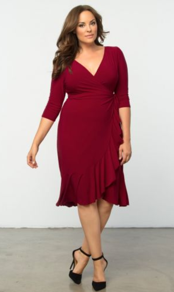 Whimsy Red Wrap Dress