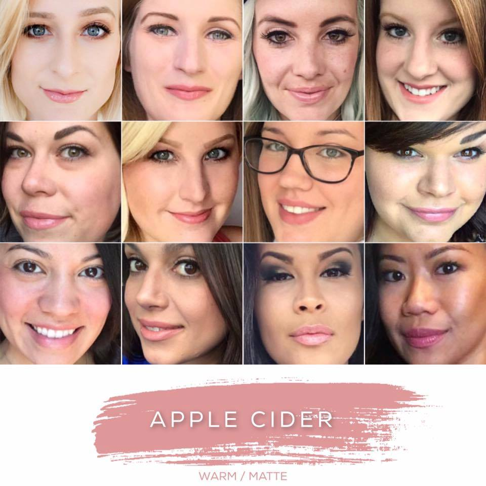 apple cider lipsense collage
