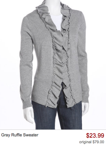 That's What I Want Gray Ruffle Sweater