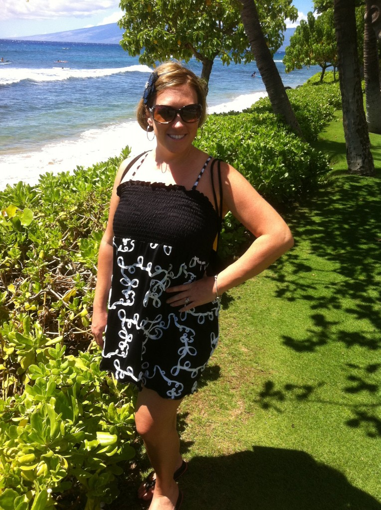 September 4, 2011 Swim Suit Cover Up and Lime Ricki Bathing Suit