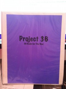 Project 36: My 36 Goals for the Year