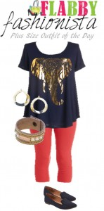 Plus Size Outfit of the Day – Graphic Elephant Tee