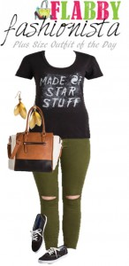 Plus Size Outfit of the Day – Casual Star Tee