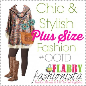 Plus Size Outfit of the Day – Aztec Poncho