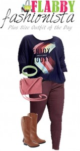 Plus Size Outfit of the Day – Colored Jeans