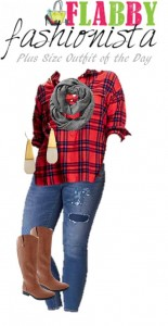 Plus Size Outfit of the Day – Flannel and Jeans