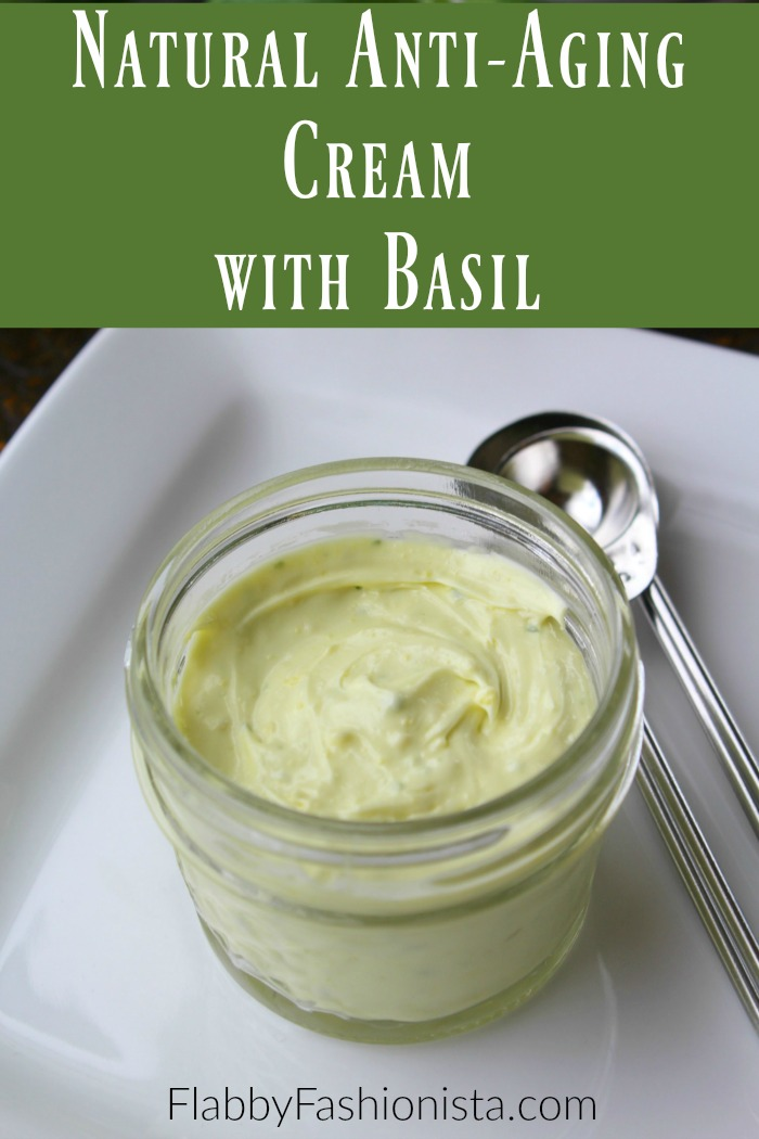 Natural Anti-Aging Cream With Basil
