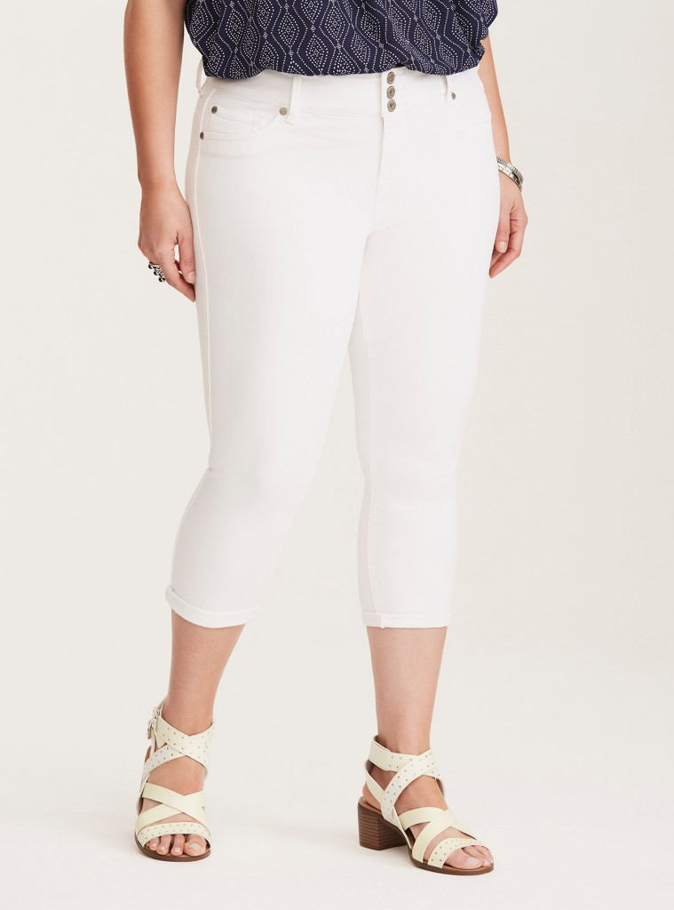 plus size white jeggings