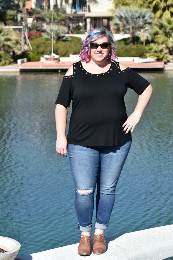 Stitch Fix Plus Size Black Top