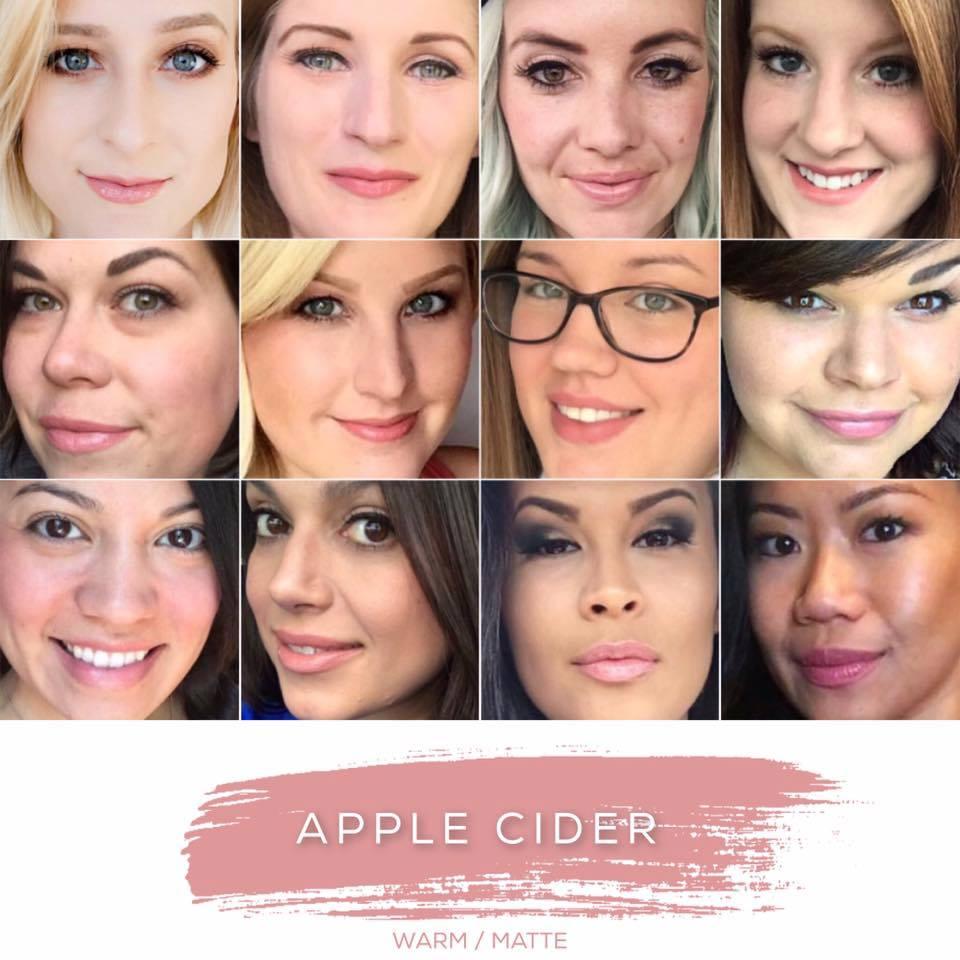 apple cider lipsense collage