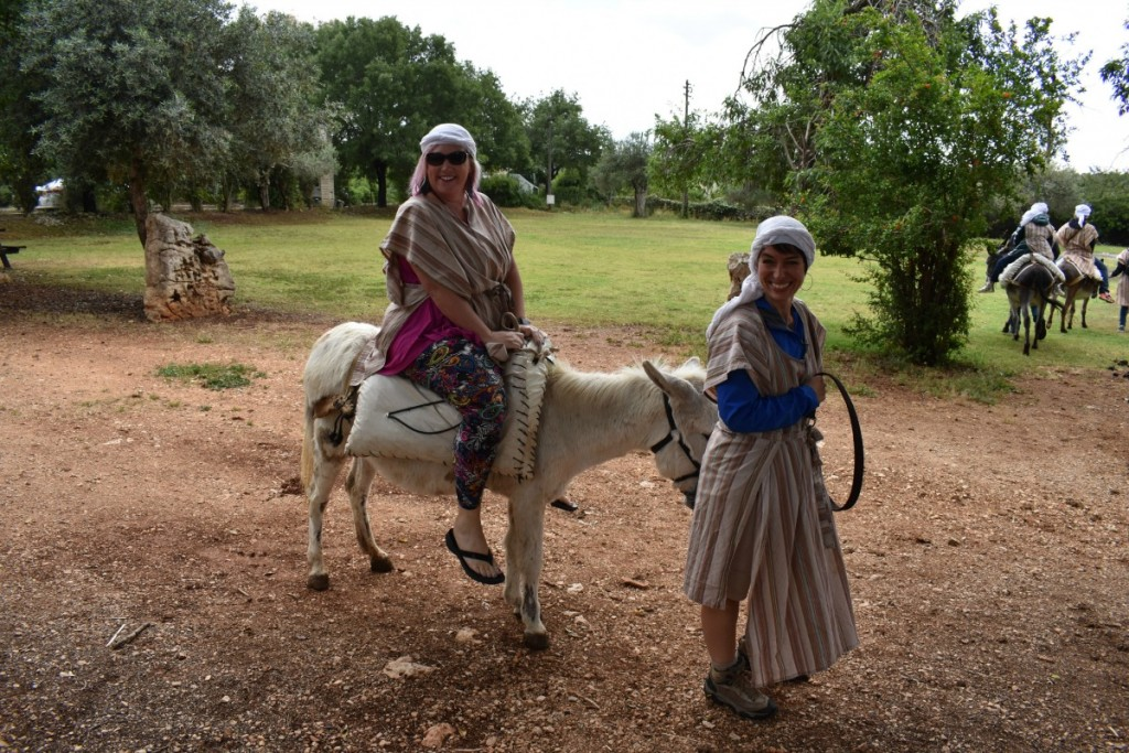Riding a donkey in Israel
