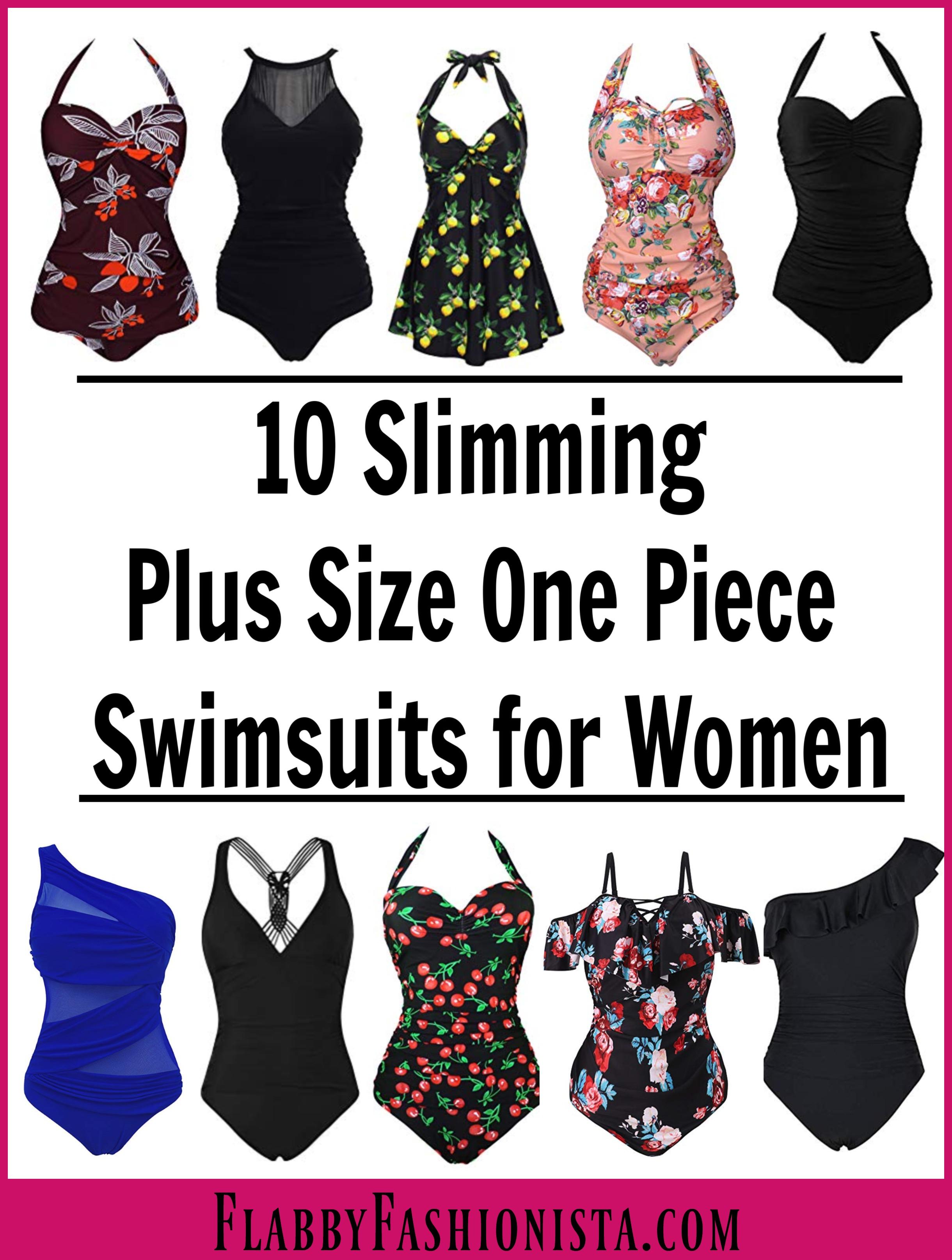 ebd9892a4f961 Slimming One Piece Plus Size Swimsuits - Flabby Fashionista - Plus Size  Fashion Blog